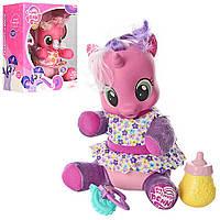 Кукла Лошадка Пони My Little Pony единорог пупсик мягконабивная, звуковая, светящая, аксессуары в коробке