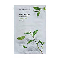 Тканевая маска для лица c зеленым чаем NATURE REPUBLIC Green Tea Real Nature Mask Sheet