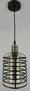 Люстра потолочная подвесная в стиле LOFT (лофт) 12056/1-br Черный 30х16х16 см.