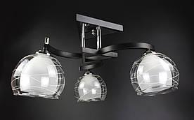 Люстра стельова на 3 лампочки 51098/3 Чорний 28х49х49 див.