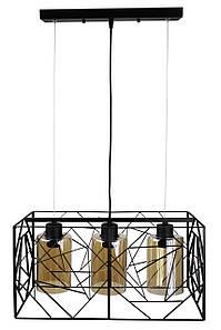 Люстра потолочная подвесная в стиле LOFT (лофт) 12120/3 Черный 30х24х48 см.