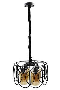 Люстра потолочная подвесная в стиле LOFT (лофт) 12036/4 Черный 40х40х40 см.