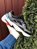 Мужские демисезонные кроссовки Nike M2K Tekno черные с синим красным (Найк зимові м2к текно чоловічі), фото 5