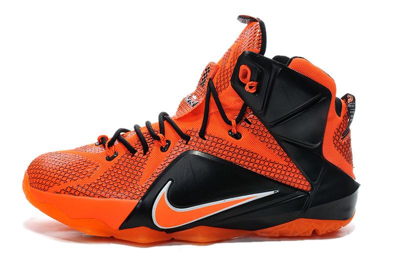 Баскетбольные кроссовки Nike Lebron 12 оранжевые - Интернет магазин обуви  Shoes-Mania в Днепре 5642a263530