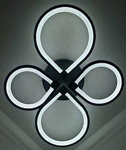 Светодиодная потолочаня LED люстра 2288/2+2-bk Черный 13х57х73 см.