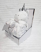 Плед - м'яка іграшка 3 в 1 (Зайчик сірий)