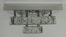 Люстра потолочная хрустальная LED с пультом C1787/350*350-ch Хром 18х33х33 см.