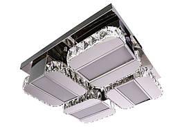 Люстра потолочная хрустальная LED с пультом C2060/500 Хром 15х48х48 см.