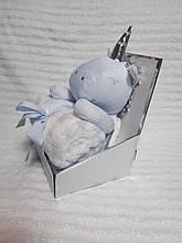 Плед - м'яка іграшка 2 в 1 (Єдиноріжок біло-блакитний)