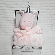 Плед - м'яка іграшка 3 в 1 (Зайчик сірий), фото 2