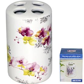 Подставка для зубных щеток Орхидея 6,5х10,5 см SNT 888-02-007