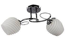 Люстра потолочная на 2 лампочки 7153/2A-ch Хром 25х42х42 см.