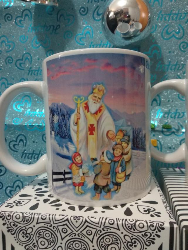 Чашка від Св.Миколая на подарунок (наносимо фото)