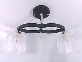 Люстра потолочная на 2 лампочки 11125/2 Черный 29х12х42 см.