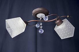 Люстра на 2 лампочки P3 - 37275в-2C (CO+WT)