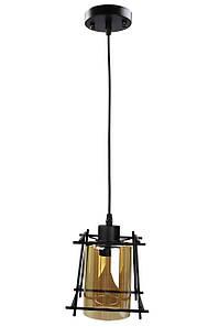 Люстра потолочная подвесная в стиле LOFT (лофт) 11815/1 Черный 30х16х21 см.