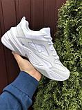 Мужские демисезонные кроссовки Nike M2K Tekno белые (Найк м2к текно чоловічі), фото 3