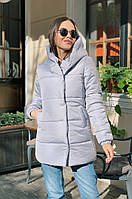 Женская зимняя серая куртка, фото 1