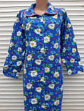 Теплый фланелевый халат 52 размер Крупные ромашки, фото 8