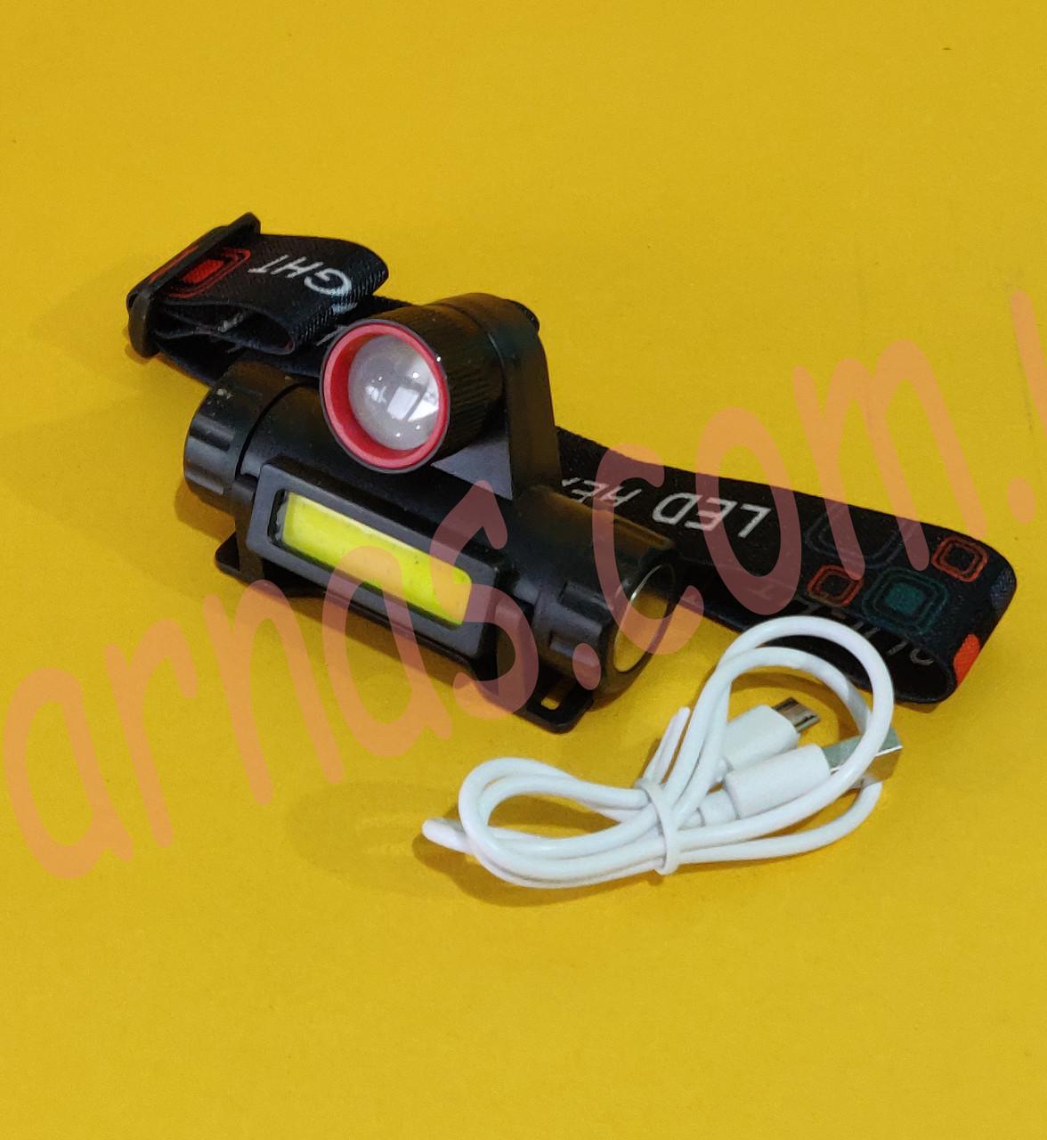 Налобний ліхтар акумуляторний 8101