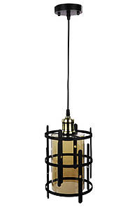 Люстра потолочная подвесная в стиле LOFT (лофт) 12025/1-br Черный 40х17х17 см.