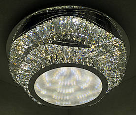 Люстра потолочная хрустальная LED с пультом C1784/500 Хром 18х50х50 см.