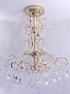 Люстра потолочная хрустальная 90050/4 Золото 59х49х49 см.