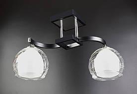 Люстра потолочная на 2 лампочки 51098/2 Черный 28х17х47 см.