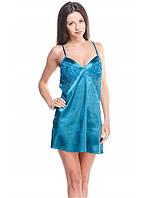 Яркая ночная женская рубашка с кружевом, фото 1