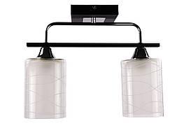 Люстра потолочная на 2 лампочки 126/2-bk Черный 29х12х38 см.