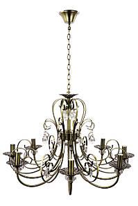 Люстра свеча 6349/8 Бронза 60х72х72 см.