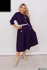 Платье женское стильное трикотажное нарядное и повседневное размеры50-62, фото 2