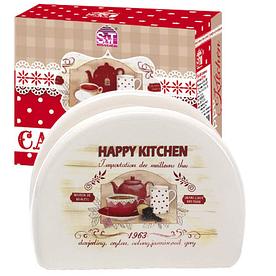 Салфетница керамическая Happy Kitchen SNT 3662-11