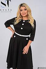 Платье женское стильное трикотажное нарядное и повседневное размеры50-62, фото 3