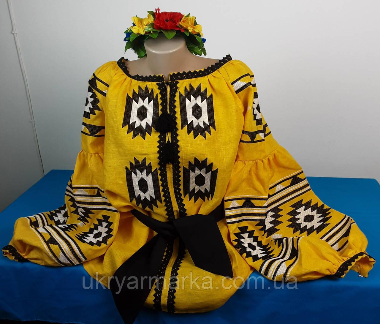 """Жіноча вишиванка в етно-стилі """"Сонячний метелик"""""""