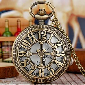 Кишенькові чорні чоловічі годинник на ланцюжку, фото 2