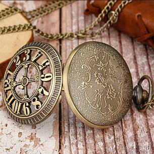 Карманные мужские часы на цепочке, фото 2
