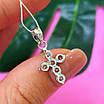 Маленький женский серебряный крестик с камнями - Крестик из серебра с цирконием, фото 6