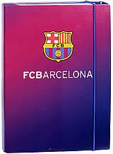 Папка на резинке картонная А4, FC Barcelona