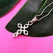 Маленький женский серебряный крестик с камнями - Крестик из серебра с цирконием, фото 4