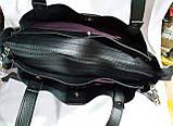 Брендовая женская сумка Zara с боковыми карманами, серая с серебристой фурнитурой 29*30 см (натуральная замша, фото 3