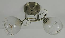Люстра потолочная на 2 лампочки 75606/2-AB Бронза 23х24х42 см.