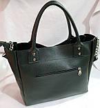 Женская замшевая черно-красная сумка 32*30 см (натуральная замша), фото 3