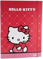 Папка на резинке картонная А4, Hello Kitty