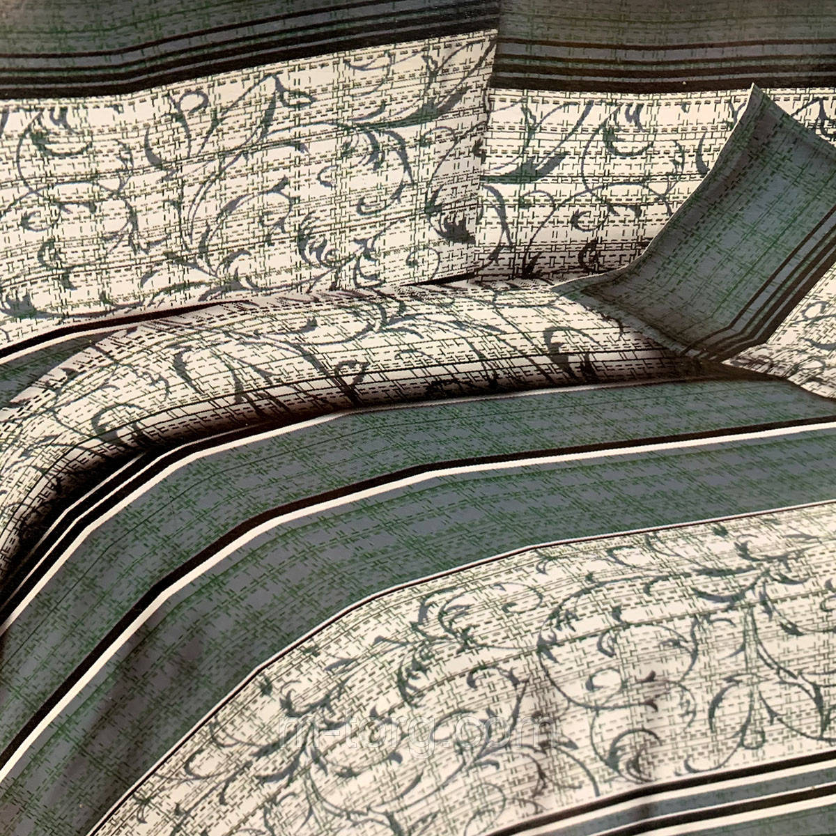 """""""узоры"""" постельное белье 3D эффект евро размер 200*220 см, нав-ки 70/70"""