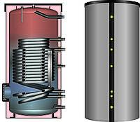 Бойлер з нержавіючої сталі 300 л (Бівалентний бак ГВП) Flamco Duo HLS-E Solar.(Німеччина)