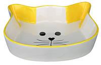 Миска для кота керамическая 0,25л (кошачья мордочка)