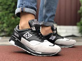 Кросівки літні чоловічі чорні сітка 15\9206, фото 2