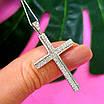 Серебряный крестик католический - Католический крестик из серебра с камнями, фото 5