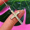 Серебряный крестик католический - Католический крестик из серебра с камнями, фото 6